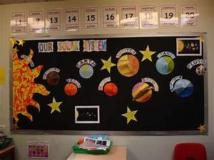 Space | The Solar System display board in our classroom ...