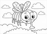 Coloring Fly Supercoloring Categories sketch template