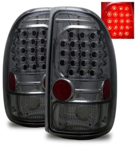 dakota led tail lights dodge dakota 1997 2004 smoked led tail lights