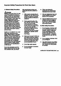 Stihl 026 Chainsaw Owners Manual