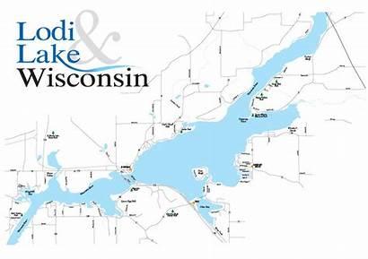 Wisconsin Lake Map Maps Lodi Area Whole