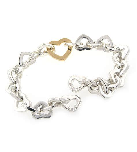 Tiffany & Co Heart Link Necklace And Bracelet Set