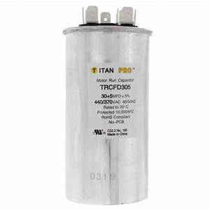 Trcfd305 - Titan Pro Trcfd305  5 Mfd Round Dual Motor