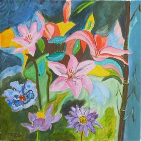 peinture acrylique fleurs modernes fleurs modernes