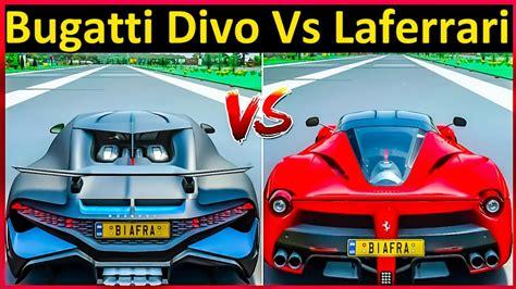 Bugatti chiron vs bugatti divo | cars battle. Forza Horizon 4 Drag Race: Bugatti Divo Vs Ferrari LaFerrari - YouTube