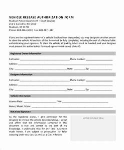 Vehicle release authorization letter authorization letter template 2 legalforms org thecheapjerseys Image collections