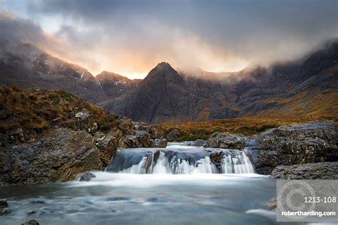 black cuillin mountains  stock photo