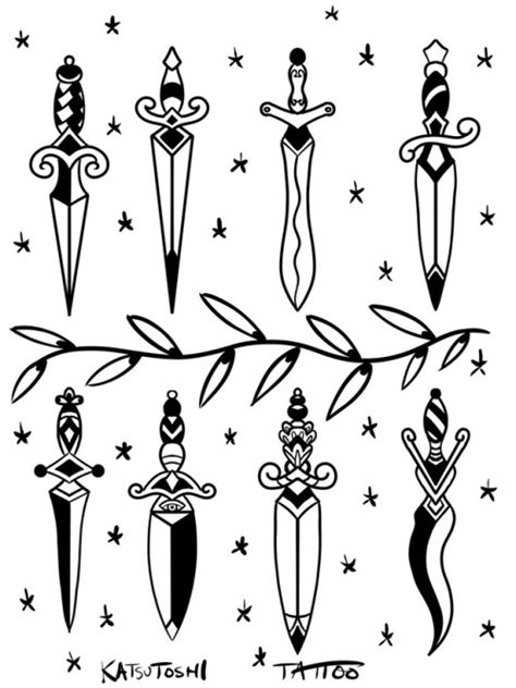 dagger tattoo design | Tumblr
