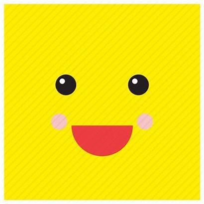 Square Shape Face Emoji Smiley Happy Emoticon