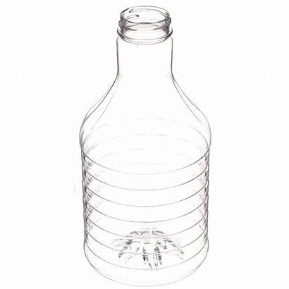 Round Carafe Oz Finish Neck Pet Clear
