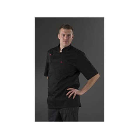 veste de cuisine noir homme manches courtes my tablier cuisine