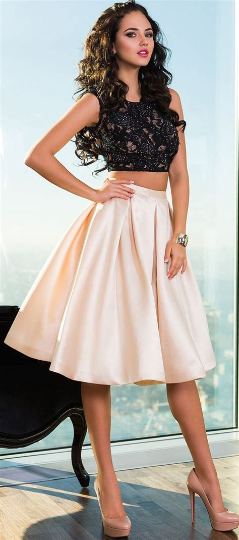 Black & white, two pieces, cute but cool #dresses for # ...
