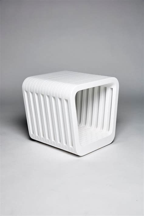 White Cloudy Stool - link stool or coffee table in white by reda amalou