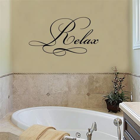 relax elegant wall quotes decal wallquotescom