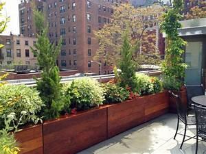 l39 amenagement de terrasse avec un sol du bois archzinefr With chambre bébé design avec pot de fleur bois