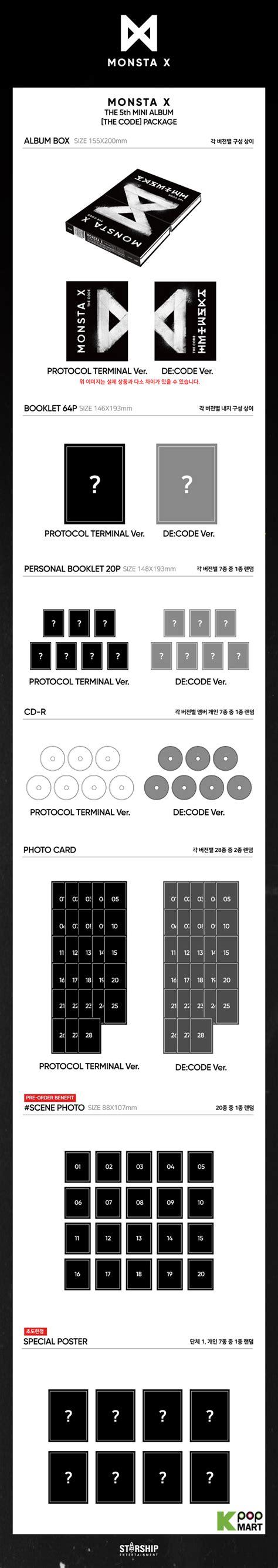 monsta x album list in order monsta x mini album vol 5 the code random