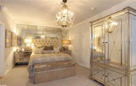 mirrored nightstand contemporary bedroom