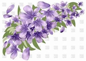 Unique Lavender Flower Border Clip Art Image » Free Vector ...