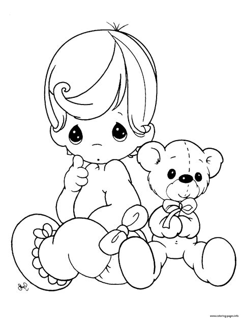 baby doll teddy bear coloring pages printable