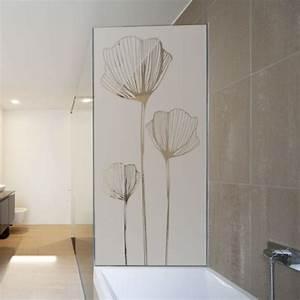 Vitre Pour Douche : sticker paroi de douche coquelicot d coration vitre ~ Premium-room.com Idées de Décoration