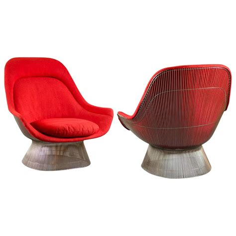 pair of lounge chairs by warren platner for knoll for sale