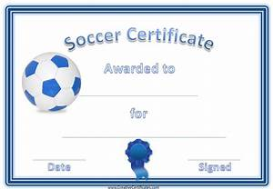 Soccer award certificate template customize online for Soccer certificate