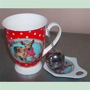 Mug Infuseur Thé : mug faon infuseur boule th en inox et support porcelaine ~ Teatrodelosmanantiales.com Idées de Décoration