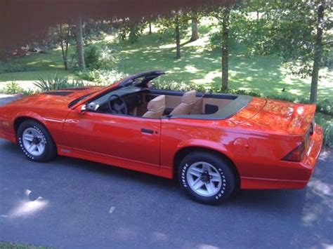 Purchase Used 1987 Chevrolet Camaro Z28 Convertible In