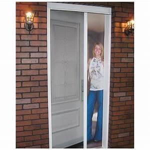 Moustiquaire Porte D Entrée : moustiquaire de porte r tractable portes d 39 ext rieur canac ~ Melissatoandfro.com Idées de Décoration