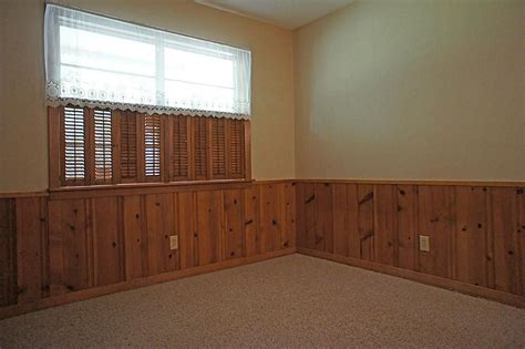 Wainscoting With Paneling by Knotty Pine Wainscoting Basement Remodel In 2019