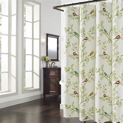 maria green leaves shower curtainflower polyester fabric