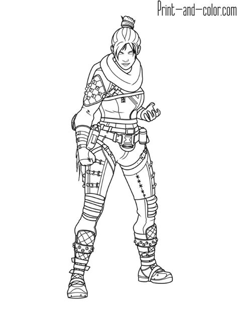 apex legends coloring page wraith   coloring pages