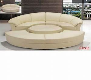 dreamfurniturecom divani casa circle modern leather With sectional sofas circle furniture