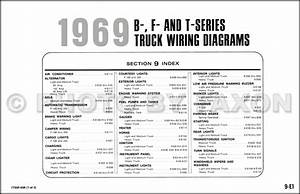 1969 Ford Truck Wiring Diagram Original F100 F250 F350 F1000 Pickup