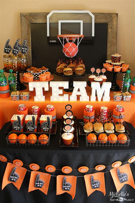basketball party idea march maddness themed food mini