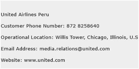 us airlines phone number united airlines peru customer service number toll free