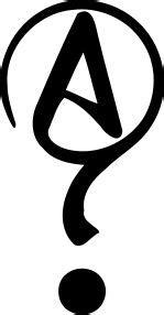 Symbol of Agnosticism. Not widely used yet, but I prefer