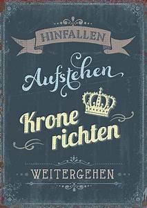 Hinfallen Aufstehen Krone Richten Weitergehen Sprüche : postkarte krone richten ~ Frokenaadalensverden.com Haus und Dekorationen