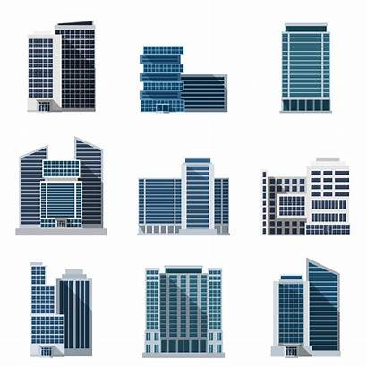 Vector Office Buildings Illustration Clip Business Icons