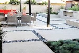 Modele De Terrasse Exterieur : terrasse en beton ma terrasse ~ Teatrodelosmanantiales.com Idées de Décoration