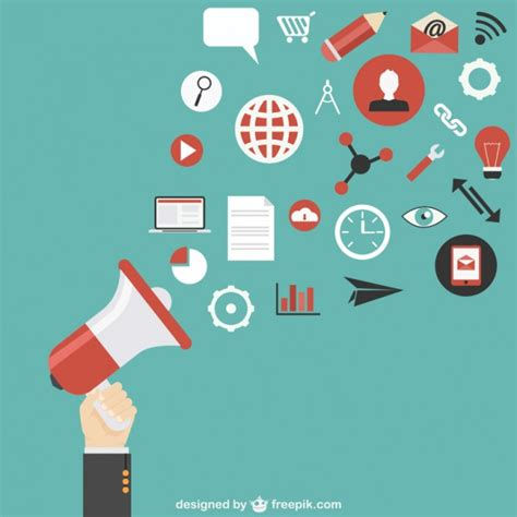 Marketing Free by Marketing Communication Vector Vector Free
