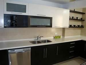 modelo, de, muebles, de, cocina, con, cubierta, de, marmol, o