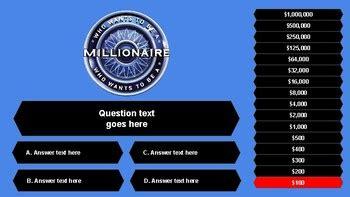 millionaire google  game template