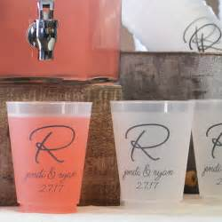 plastic cups for wedding plastic wedding cups personalized 16 oz frosted my wedding reception ideas