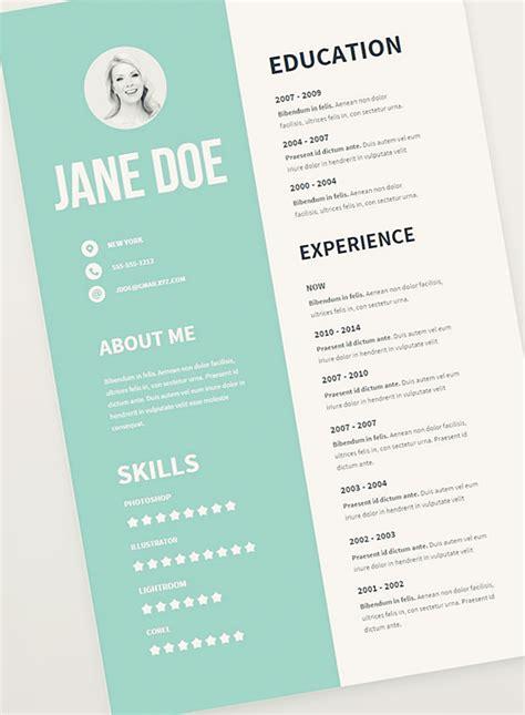 cv resume psd templates freebies graphic design