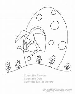 Happy Easter Coloring Sign - AZ Colorare