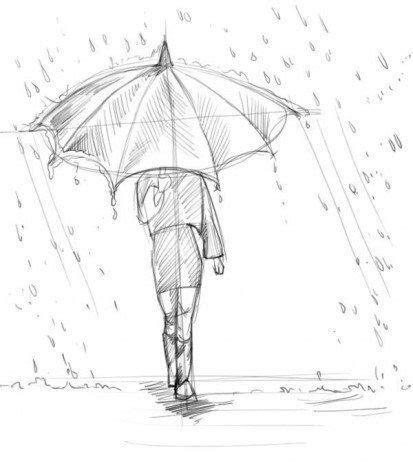 Wie durchbrichst du die berührungshemmschwelle bei einem mädchen, das dir gefällt? Mädchen mit Regenschirm zeichnen | Großartige zeichnungen ...