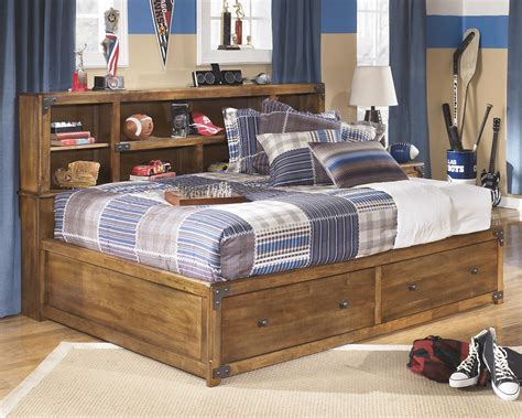 bed with bookcase footboard full bookcase bed with footboard storage by signature