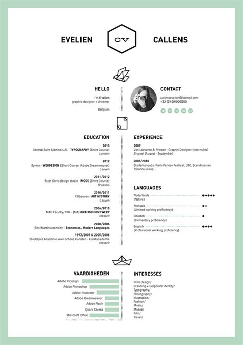 Resume Layout Design by 27 Magnificent Cv Designs That Will Outshine All The