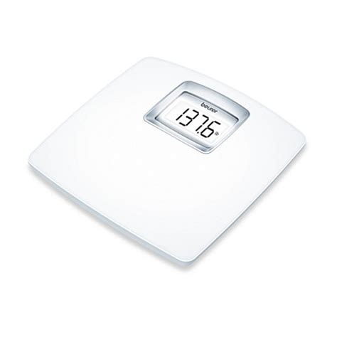 beurer white lcd digital bathroom scale bed bath